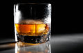 Closeup Misted Glass Of Whiskey Stock Photo - 25617480