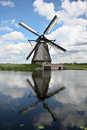 Windmill At Kinderdijk Royalty Free Stock Image - 25621566