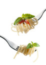 Pasta On A Fork Stock Images - 25629694