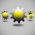 Yellow Gears Royalty Free Stock Image - 25629936