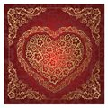 Red Heart Ornament. Royalty Free Stock Photos - 25634418