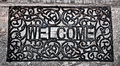 The Doormat Curved Steel Of Welcome Text Stock Image - 25637821