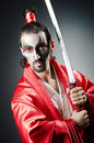 Japanese Actor With Sword Stock Image - 25643501