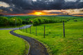 Pathway Leading Into Sunset  Royalty Free Stock Image - 25648576