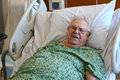 Elderly Male Hospital Patient Is Happy Royalty Free Stock Photos - 25649448