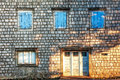 Old Wall With Door And Windows Royalty Free Stock Photos - 25650388