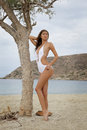 Young Fashion Pretty Sexy Woman On The Beach Stock Images - 25654224