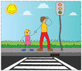 Under Traffic Lamp Stock Images - 25660554