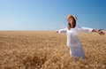 Girl On Wheat Field Royalty Free Stock Photography - 25665047