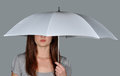 A Girl Under The Umbrella  Stock Images - 25665144
