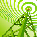 Digital Transmitter Sends Signals From High Tower Royalty Free Stock Image - 25665886
