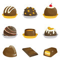 Chocolates Icons Royalty Free Stock Images - 25666319