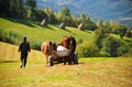 Peasant With An Ox-driven Cart Stock Images - 25686364