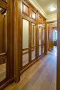 Wooden Wardrobe In Corridor Stock Image - 25695851