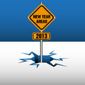 New Year Ahead Plate Stock Images - 25699734