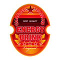 Energy Drink Label Royalty Free Stock Photo - 25699745
