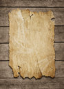 Blank Poster At Wooden Background Stock Images - 25707144