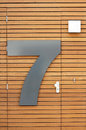 Number Seven On Door Royalty Free Stock Image - 25707886