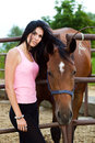 Girl And Horse Stock Photo - 25708520