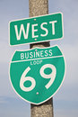69 Highway Sign Royalty Free Stock Image - 25712636