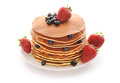 Pancakes With Strawberry And Blueberries Royalty Free Stock Image - 25713286