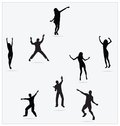 Healthy Young Active Dance Jumping People Royalty Free Stock Photos - 25715998