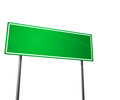 Green Road Sign Isolated On White Stock Image - 25727401