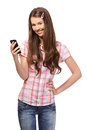 Portrait Of A Schoolgirl With Cellphone Stock Photo - 25730730