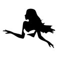 Abstraction WOMAN Silhouette Black Stock Image - 25733211
