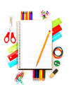 School Notebook With Supplies Stock Photo - 25736110