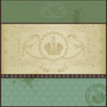 Royal Old Paper Background Luxury Green Stock Photography - 25738102