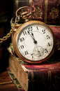 Old Pocket Watch And Books In Low-key Stock Images - 25741414