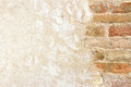 Brickwall With Plastered Wall Royalty Free Stock Photo - 25744915