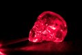 Red Glass Skull Royalty Free Stock Photography - 25746777