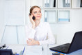 Business Woman Talking On Cell Phone Stock Images - 25750744