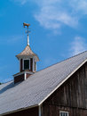 Barn Cupola With Cow Weathervane Royalty Free Stock Image - 25754646