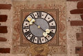 Alsace Clock Of Hunawihr Stock Photo - 25762690
