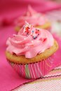 Pink Cupcakes Royalty Free Stock Photography - 25764407