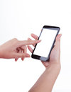 Touch Screen Mobile Phone, In Hand Stock Image - 25769341