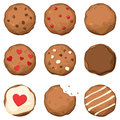 Chocolate Chip Cookies Set Royalty Free Stock Photography - 25773937