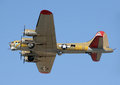 Flying Fortress Bomber In Flight Stock Photos - 25776413