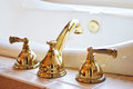 Gold Faucet Stock Image - 25784921