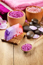 Lavender Spa Set Stock Photography - 25789872