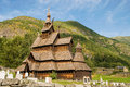 The Stave Church (wooden Church) Borgund, Norway Royalty Free Stock Photography - 25790877
