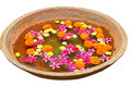 Earthen Bowl With Flowers Royalty Free Stock Photos - 25791518