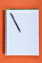 Sheet Of Blank Notebook And Pen Stock Photos - 25795513