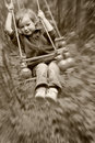 Boy Shakes On A Swing Royalty Free Stock Images - 2583139