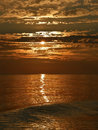 Sea And Waves In Sunset Stock Photos - 25800293