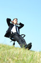 Business Man On Chair Stock Image - 25801691