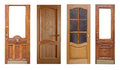 Set Of Wooden Doors. Isolated Ver White Stock Image - 25823961